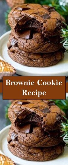 INGREDIENTS 12 ounces bittersweet chocolate chips cacao) cup butter 3 large eggs 1 cup granulated sugar cup brown s. Quick Easy Desserts, Just Desserts, Delicious Desserts, Brownie Recipes, Cookie Recipes, Dessert Recipes, Brownie Cookies, Chip Cookies, Gourmet Recipes