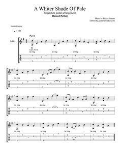 A Whiter Shade Of Pale fingerstyle TAB - fingerstyle guitar cover by Hansel Pethig - Guitar Pro TAB