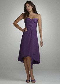 What we are wearing for Sara's wedding! This short dress will make an entrance at any event. Designed in a comfortably flowing chiffon fabric, the ruched bust and front detail will flatter every figure.