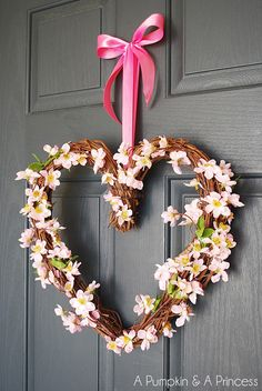 Simple Heart Wreath - so beautiful and easy!