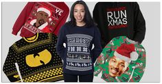 Spending Christmas In Hollis? Want to stay Coogi down to your Xmas stockings? Look fly for the holidays in these Hip-Hop ugly Christmas sweaters: http://djshamann.com/hip-hop-ugly-christmas-sweaters/