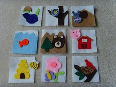 Felt animal habitat game - isn't it terrific! - Could also add rings and make them into a little book.