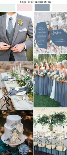 Spring wedding colors - Slate blue wedding inspiration Light blue wedding, dusty blue wedding Paper from Unica Forma Wedding Robe, Wedding Dresses, Slate Wedding, Grey Wedding Theme, Spring Wedding Colors Blue, Spring Theme, Wedding Flowers, Grey Wedding Suits For Men, Blue Tux Wedding