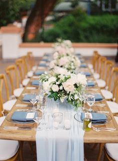 "A rustic ranch wedding featuring Pantone's 2016 colors of the year, rose quartz and serenity. The ""it"" colors were used in the flowers, ceremony decor, bridesmaids dresses and more."