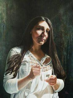Realistic Portraits by Maria Bozina. Maria works in her home studio in Wellington, New Zealand. Maria Bozina is a New Zealand artist. Original Paintings, Original Art, Artwork Online, Oil On Canvas, Saatchi Art, Mona Lisa, Portraits, Art Prints, Gallery