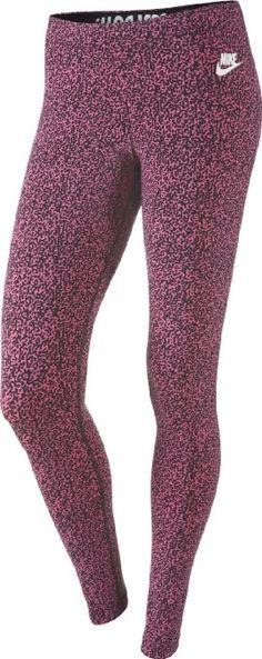 Nike Mujeres Pierna A Ver Sport Casual Leggings-Rosa / Negro-XS