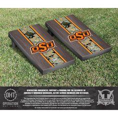 Oklahoma State Cowboys 2' x 4' Operation Hat Trick Cornhole Game Set - $239.99