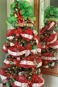 christmas tree elf deco mesh - Google Search
