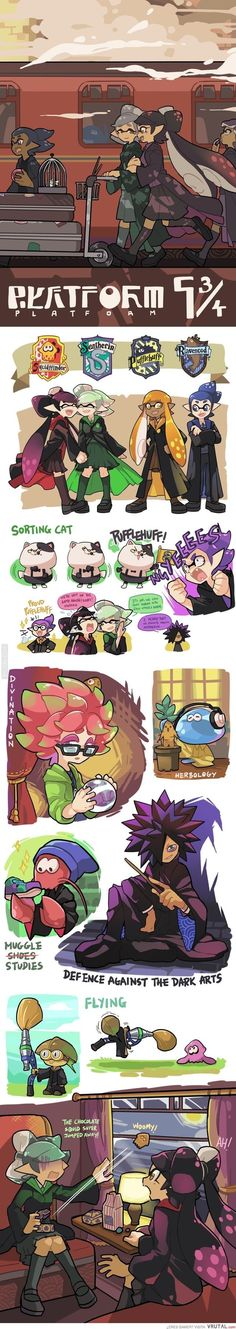 Houses of Hogwarts Splatoon style