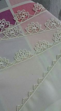 ~ Pin by Lieselotte Lina on Needle lace Crochet Lace Edging, Filet Crochet, Crochet Doilies, Crochet Flowers, Needle Lace, Needle And Thread, Baby Knitting Patterns, Crochet Patterns, Point Lace