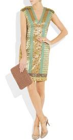Jacquard patchwork dress