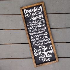 Little Houses Framed Wood Sign, Distressed Wood Sign for the Home, Love Grows Best in Houses Just Like This, Home Decor, Signs for the Home by IvyandOrchid on Etsy