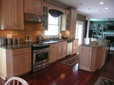 my dream kitchen cabinets, counter and floor too : )