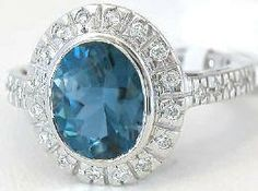 This London blue topaz ring is perfect for the lady who has bigger hands or who prefers larger pieces of jewelry. At over 1/2 inch wide, this ring has a wonderful presence on the finger. Found at MyJewelrySource.