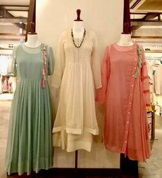 Stylish kurti neck designs for women - ArtsyCraftsyDad Kurta Designs Women, Blouse Designs, Simple Kurti Designs, Indian Attire, Indian Ethnic Wear, Stylish Dresses, Simple Dresses, Fashion Dresses, Pakistani Dresses