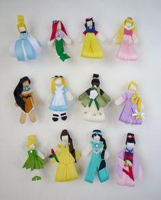 You-choose-three Princesses (Ribbon Sculptures)