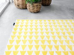 I feel like my guest bath might need a yellow triangle wall treatment...