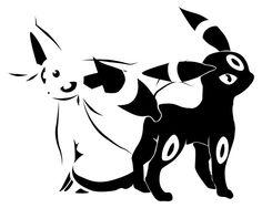 espeon sun pokemon favorite pokemon ever umbreon favorite pokemon ever Umbreon Y Espeon, Eevee Evolutions, Black Tattoos, Tribal Tattoos, Dragons, Pokemon Tattoo, All Pokemon, Fan Art, Image Manga
