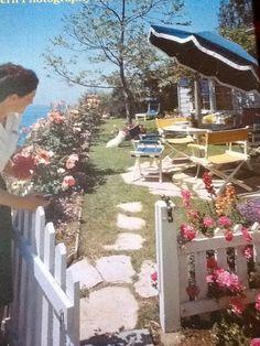 vintage photo from House Beautiful, Laguna Beach CA. garden