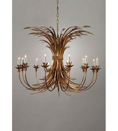Lighting New York | Wildwood Lamps Iron Wheat Chandelier in Hand Finished Wrought Iron 8988