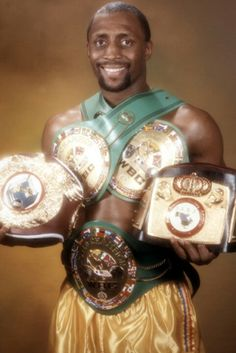 Thomas Hearns   belts say it all the best ever