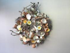 Paas krans met eierschalen Annelies Claeys eigen creatie