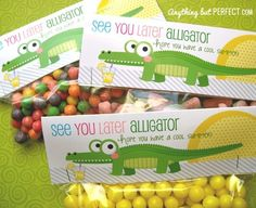 End of the school year treat bag toppers