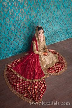 K Bridals Studio shoot for bride in red and gold | ShaadiWorks