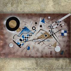 Abstract braun painting 40x64 Modern Acrylic by KsaveraART on Etsy