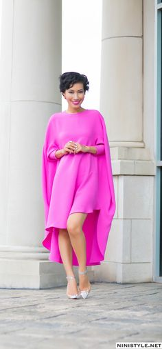 The Dream Dress for Me. Pink Fashion, Modest Fashion, Hijab Fashion, Fashion Beauty, Womens Fashion, Ascot Dresses, Hot Pink Dresses, Dream Dress, Passion For Fashion