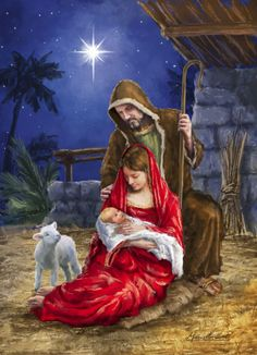 O Holy Night ❤️ the birth of our Lord Jesus ❤️ Christmas Jesus, Meaning Of Christmas, Christmas Nativity Scene, Christmas Scenes, Christmas Pictures, Christmas Art, Nativity Scenes, Religious Pictures, Jesus Pictures