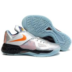 Buy Kevin Durant shoes cheap in 2012 KD IV AS Galaxy Metallic Silver... via Polyvore