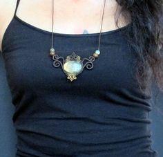 Macrame collar joyas para labradorita macrame por Mediterrasian