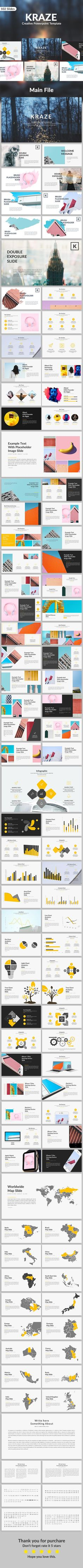 Kraze - Creative Powerpoint Template - 102 Unique Slides