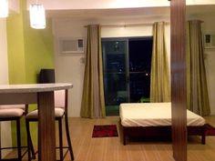 CEBU BROKERAGE: CONDOMINIUM STUDIO UNIT FOR SALE : FULLY FURNISHED... Cebu City, Condominium, Oversized Mirror, The Unit, Curtains, Studio, Furniture, Home Decor, Blinds