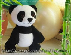 Giant Panda 22 inches PDF amigurumi crochet pattern by Chonticha