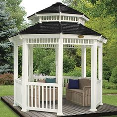 "Nothing says ""summer"" quite like a gazebo. Avid do-it-yourselfers may already possess the skills and tools to build a gazebo themselves;"
