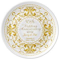 50th Wedding Anniversary 5 - Ceramic Plate