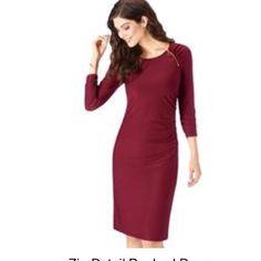 Dress Maroon Dress Dresses Midi