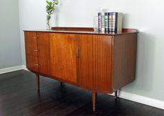 Sold Vintage Retro Mid Century Modern Mcm Dresser Credenza Buffet Console Media…