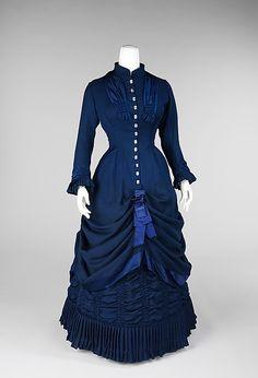 Dress  Date: 1881 Culture: American Brooklyn Museum Costume Collection at The Metropolitan Museum of Art, Gift of the Brooklyn Museum, 2009; Gift of Gertrude M. Paulsen, 1952
