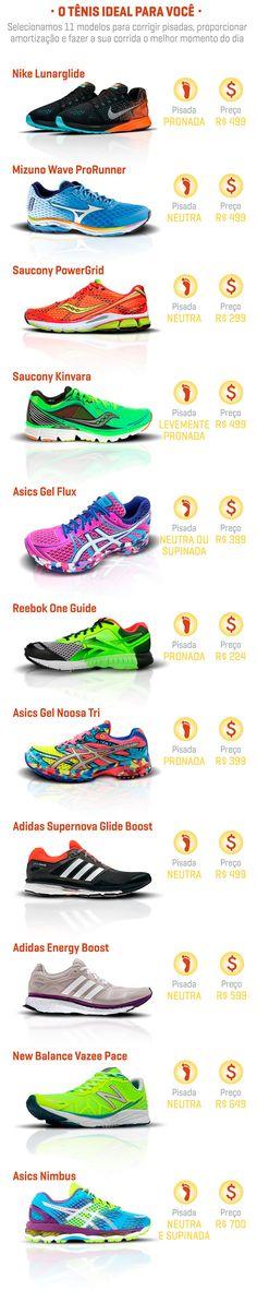 Escolhemos 11 modelos de #tênis de corrida para você não passar sufoco nos treinos #treino #fitness