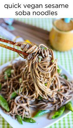 Quick Vegan Sesame Soba Noodles