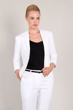 white ladies two piece suit - Google Search