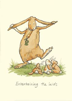 M89 ENTERTAINING THE KIDS a Two Bad Mice card by Anita Jeram