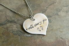 Hand Stamped Stainless Steel Memorial Heart by JoyBelleJewelry, $16.00