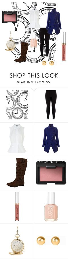 """""""White Rabbit"""" by alpha-female ❤ liked on Polyvore featuring Darice, New Look, Alexander Wang, Vivienne Westwood Anglomania, Reneeze, NARS Cosmetics, Essie, KIENZLE and Snö Of Sweden"""