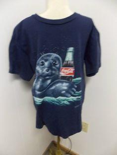 Vintage Coca Cola Coke BABY SEAL Mens T by PfantasticPfindsToo, $10.00