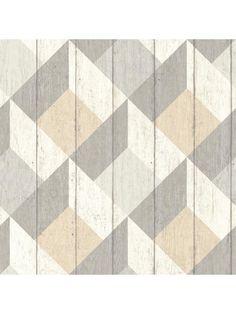 Papier peint Cubes UN3203 taupe beige pastel - GRANDECO