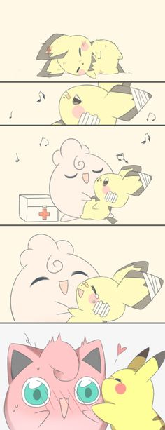Pikachu & Jigglypuff by Pokemon Eevee, Pokemon Comics, Play Pokemon, Pokemon Funny, Pokemon Fan Art, Pokemon Cards, Pokemon Fusion, Cute Pokemon Pictures, Cute Pikachu